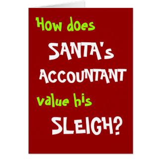 Cartão e piada de Natal engraçado do contador