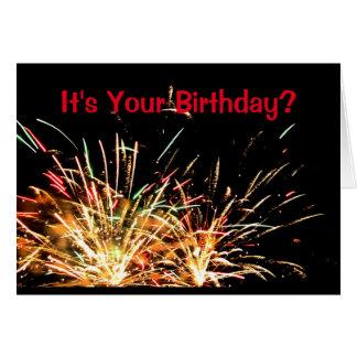 Cartão É seu aniversário? Tenha uma explosão!
