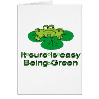 Cartão É Sure ser fácil ..... sapo verde
