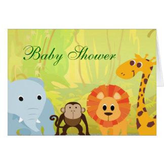 Cartão É um chá de fraldas da selva