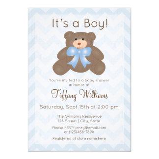 Cartão É um menino que bonito do urso de ursinho do