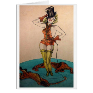 Cartão É um Ringmaster do circo