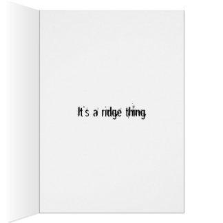 Cartão É uma coisa do cume