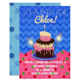Cartão É uma festa de aniversário para