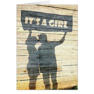 Cartão É uma menina!