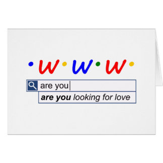 Cartão É você que procura o amor