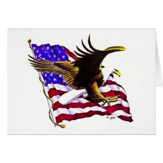 Cartão Eagle & bandeira