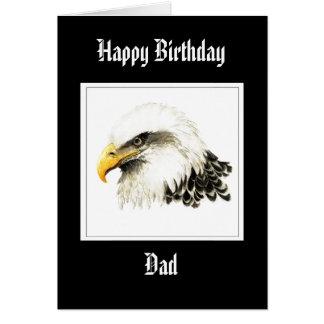 Cartão Eagle - pai do aniversário, forças armadas