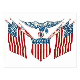 Cartão - Eagle patriótico