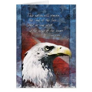 Cartão Eagle patriótico