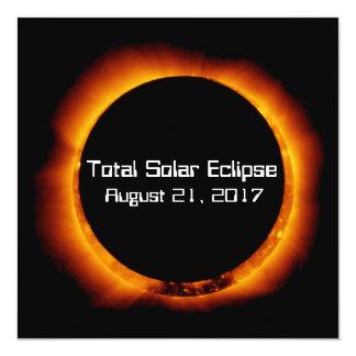 Cartão Eclipse 2017 solar total