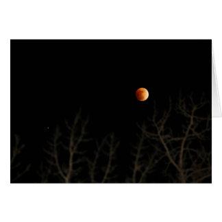 Cartão Eclipse lunar (cartão)