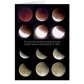 Cartão Eclipse lunar domingo 27 de setembro de 2015