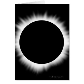 Cartão Eclipse solar com corona