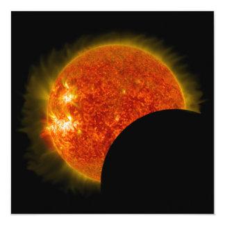Cartão Eclipse solar em andamento