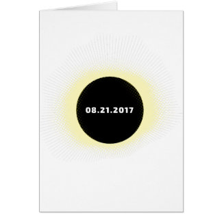 Cartão Eclipse solar total