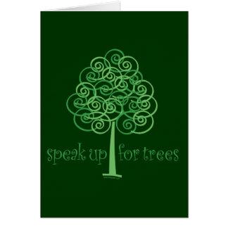 Cartão Eco-Amigável, Terra-Amigável, árvores de amor