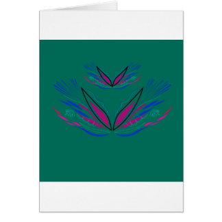 Cartão Eco do verde da mandala do bem-estar