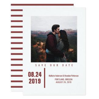 Cartão Economias chiques minimalistas da foto a data |