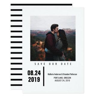 Cartão Economias chiques minimalistas da foto o preto da