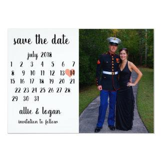 Cartão Economias da foto do calendário a data
