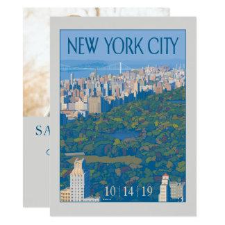 Cartão Economias da Nova Iorque   a data - foto