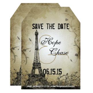 Cartão Economias da torre Eiffel das luzes da prata a