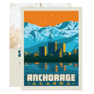 Cartão Economias de Anchorage, Alaska   a data - foto