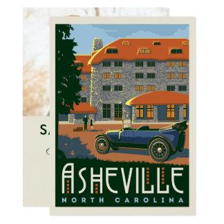 Cartão Economias de Asheville, North Carolina   a data -