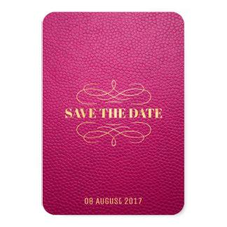 Cartão Economias de couro trocistas cor-de-rosa do estilo