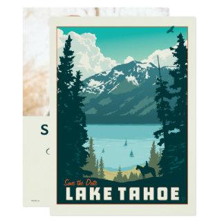 Cartão Economias de Lake Tahoe   a data - foto