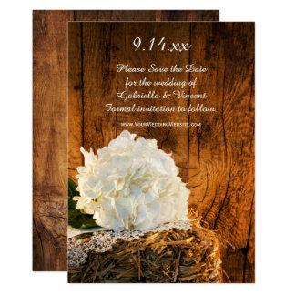 Cartão Economias de madeira do casamento do celeiro