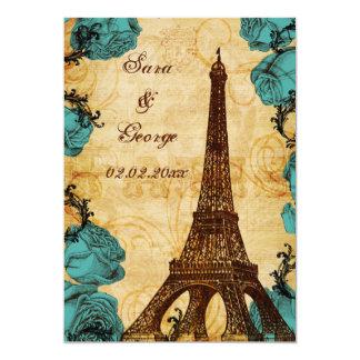 Cartão economias de Paris da torre Eiffel do vintage do