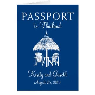 Cartão Economias de Tailândia o passaporte | da data que