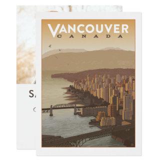 Cartão Economias de Vancôver Canadá   a data - foto