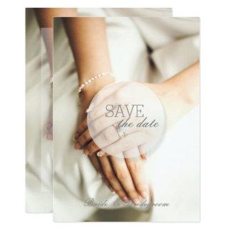Cartão Economias do anel de diamante da noiva o casamento