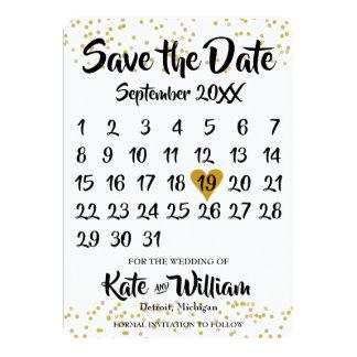 Cartão Economias do calendário a data