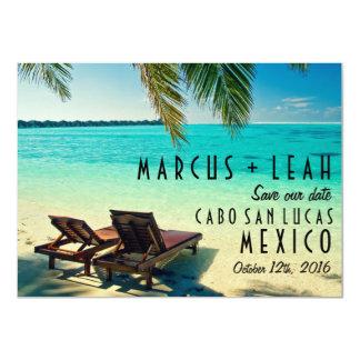 Cartão Economias do casamento do destino de México a data