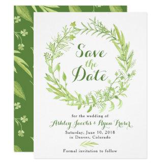 Cartão Economias do casamento do trevo das hortaliças a