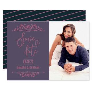 Cartão Economias do casamento vintage a foto