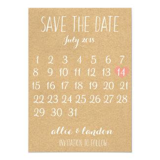 Cartão Economias do papel de embalagem o calendário da
