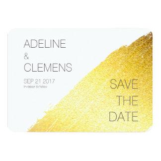 Cartão Economias elegantes modernas da pintura do ouro do