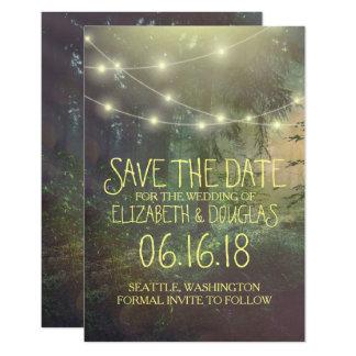 Cartão Economias Enchanted do casamento da floresta a