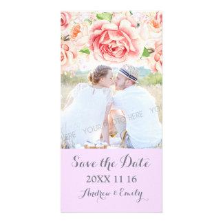Cartão Economias florais cor-de-rosa da lavanda a foto do