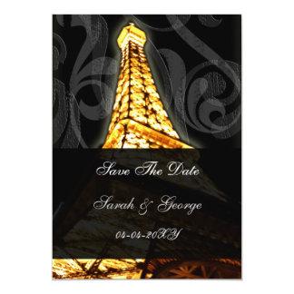 Cartão economias francesas do casamento da torre Eiffel