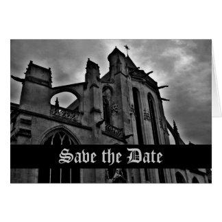 Cartão Economias góticos da catedral a data