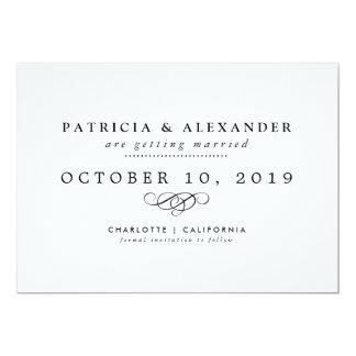 Cartão Economias minimalistas do casamento a data