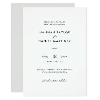 Cartão Economias modernas elegantes simples do casamento