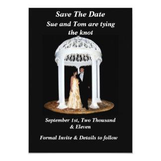 Cartão Economias pretas do casamento a data