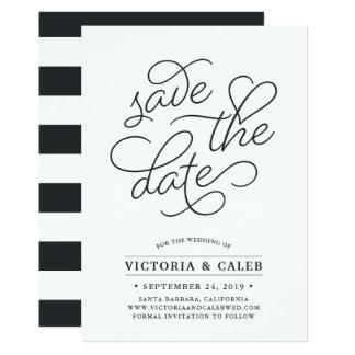 Cartão Economias românticas da tipografia do pedido | o